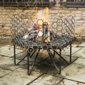 Honeycomb Fire Pit in Mild Steel