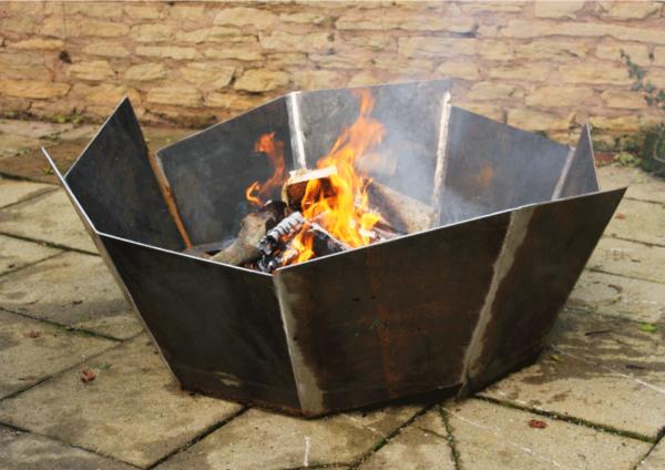 Nonagon Fire Pit in Mild Steel